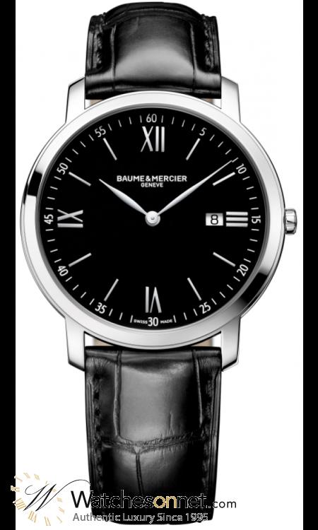 Baume & Mercier Classima  Quartz Men's Watch, Stainless Steel, Black Dial, MOA10098