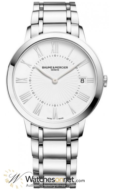 Baume & Mercier Classima  Quartz Women's Watch, Stainless Steel, White Dial, MOA10261