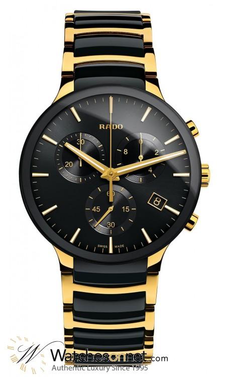 Rado Centrix  Chronograph Quartz Men's Watch, Ceramic, Black Dial, R30134162