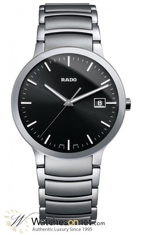 Rado Centrix  Quartz Unisex Watch, Stainless Steel, Black Dial, R30927153