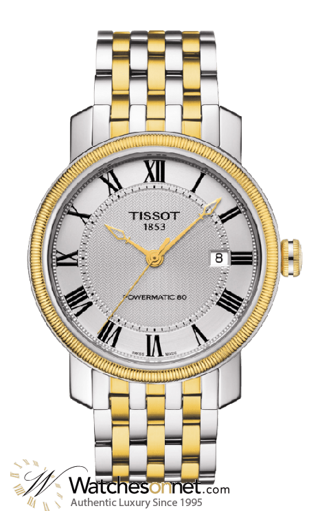 Tissot T-Classic  Automatic Men's Watch, Steel & 18K Yellow Gold, Silver Dial, T097.407.22.033.00
