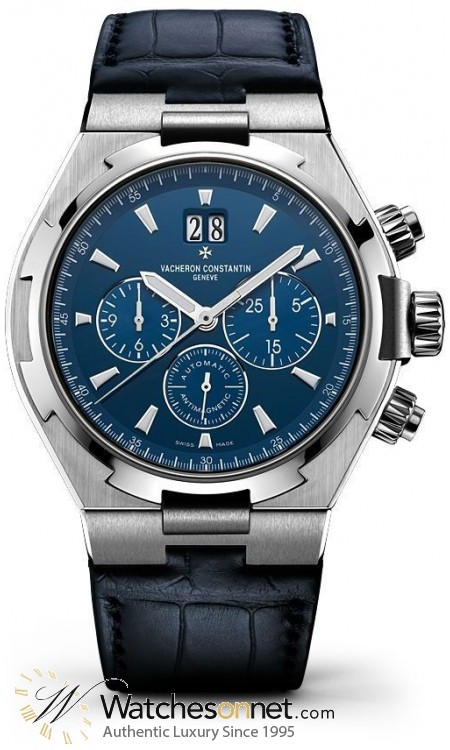 Vacheron Constantin Overseas  Chronograph Automatic Men's Watch, Stainless Steel, Blue Dial, 49150/000A-9745