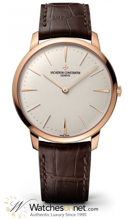 Vacheron Constantin Patrimony Grand Taille  Manual Winding Men's Watch, 18K Rose Gold, Silver Dial, 81180/000R-9159