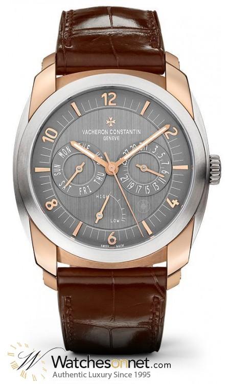 Vacheron Constantin Quai de L'lle  Automatic Men's Watch, 18K Rose Gold, Grey Dial, 85050/000R-I022I