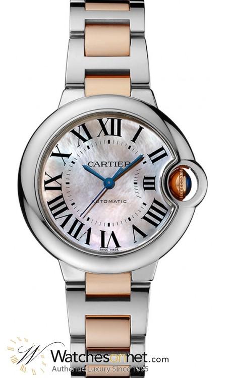 Cartier Ballon Bleu  Automatic Women's Watch, Stainless Steel, Pink Dial, W6920098