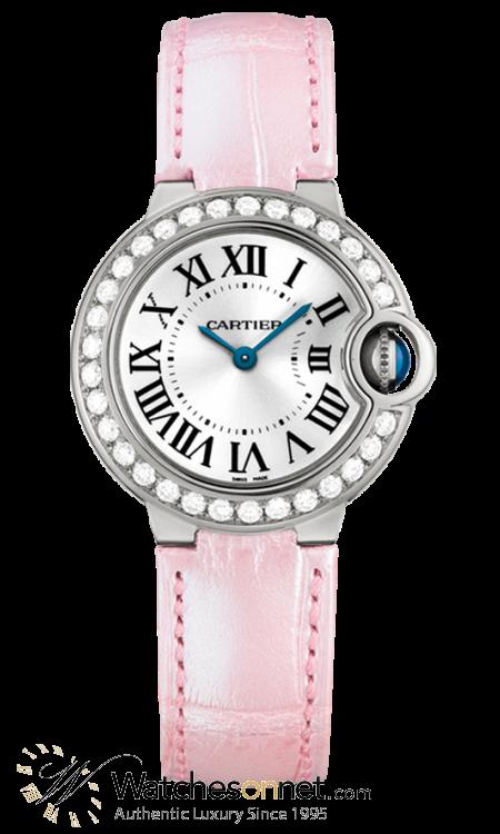 Cartier Ballon Bleu  Quartz Women's Watch, 18K White Gold, Silver Dial, WE900351