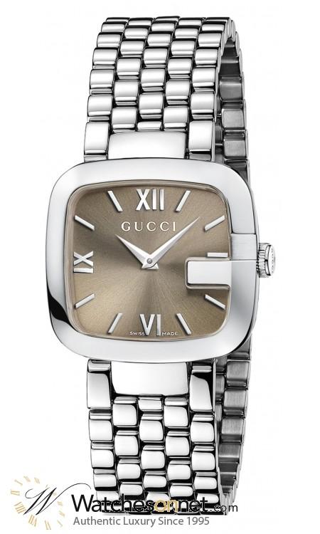 Gucci G-Gucci  Quartz Women's Watch, Stainless Steel, Brown Dial, YA125410