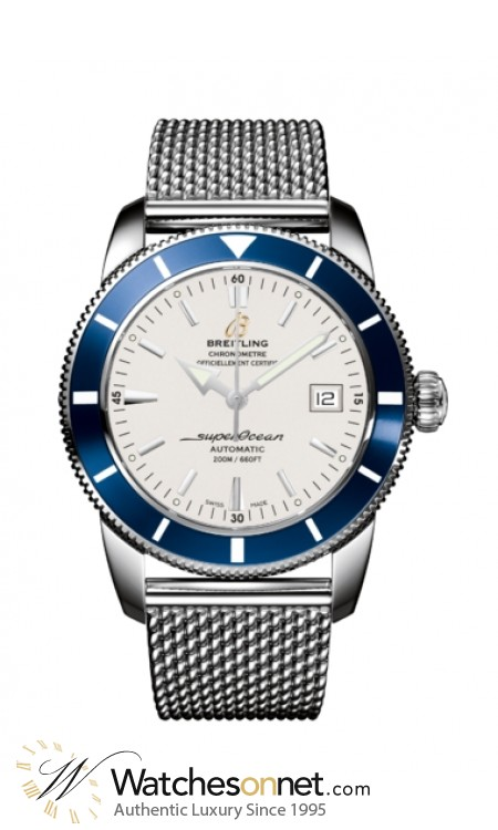 Breitling Superocean Heritage 42  Automatic Men's Watch, Stainless Steel, Silver Dial, A1732116.G717.154A