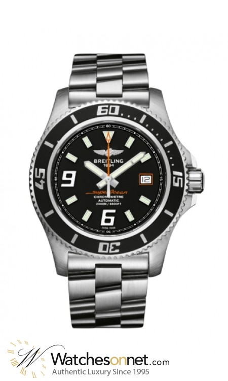 Breitling Superocean 44  Automatic Men's Watch, Stainless Steel, Black Dial, A1739102.BA80.134A
