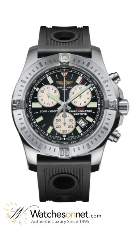 Breitling Colt  Chronograph Quartz Men's Watch, Stainless Steel, Black Dial, A7338811.BD43.200S