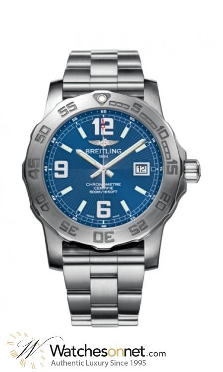 Breitling Colt  Super-Quartz Men's Watch, Stainless Steel, Blue Dial, A7438710.C849.157A