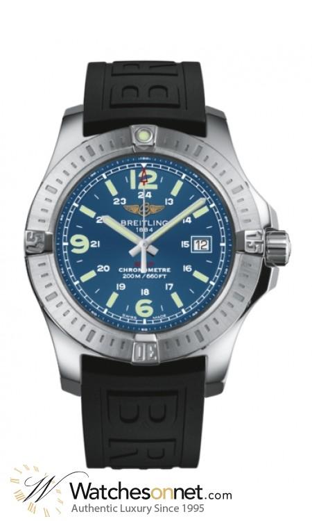Breitling Colt  Super-Quartz Men's Watch, Stainless Steel, Blue Dial, A7438811.C907.153S