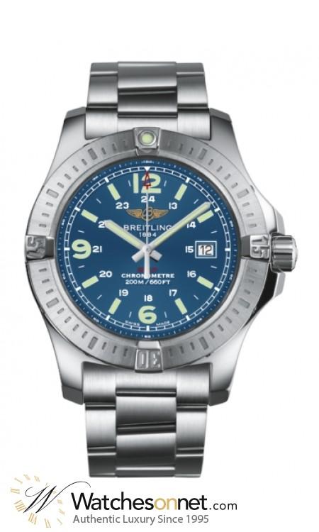 Breitling Colt  Super-Quartz Men's Watch, Stainless Steel, Blue Dial, A7438811.C907.173A