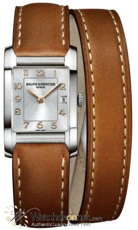 Baume & Mercier Hampton Classic  Quartz Women's Watch, Stainless Steel, Silver Dial, MOA10110