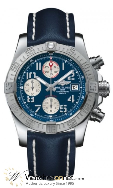 Breitling Avenger II  Chronograph Automatic Men's Watch, Stainless Steel, Blue Dial, A1338111.C870.105X
