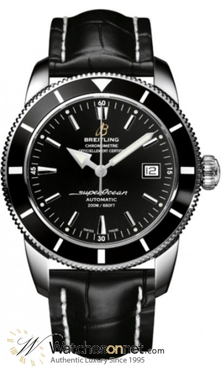 Breitling Superocean Heritage 42  Automatic Men's Watch, Stainless Steel, Black Dial, A1732124.BA61.744P