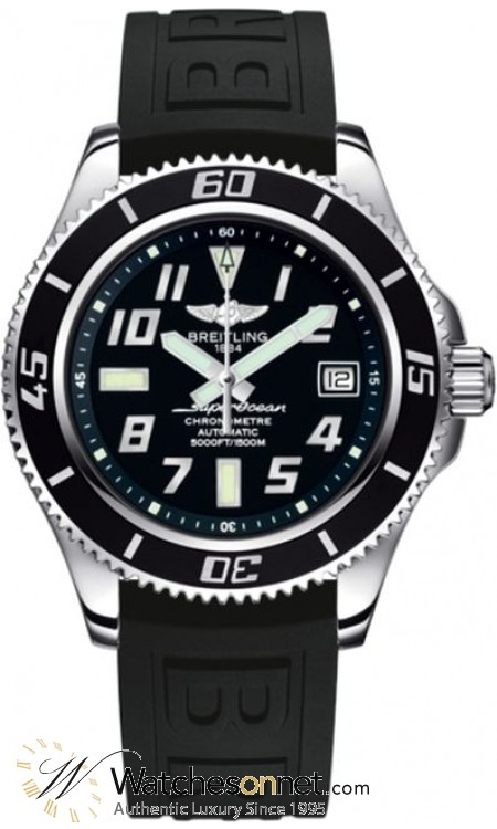Breitling Superocean 42  Automatic Men's Watch, Stainless Steel, Black Dial, A1736402.BA28.150S