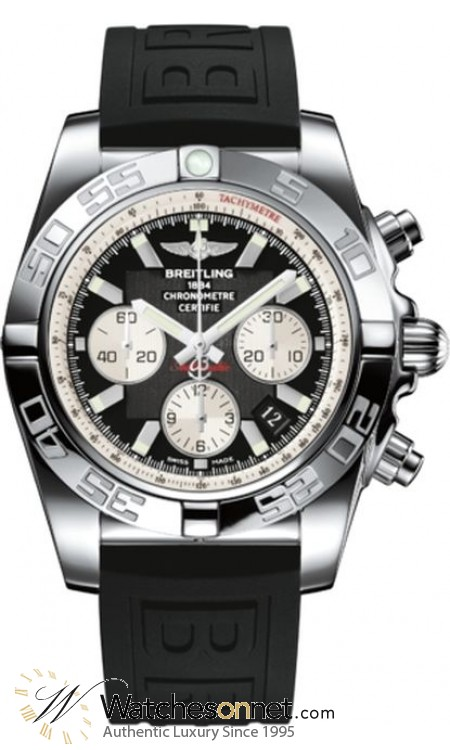 Breitling Chronomat 44  Chronograph Automatic Men's Watch, Stainless Steel, Black Dial, AB011012.B967.153S
