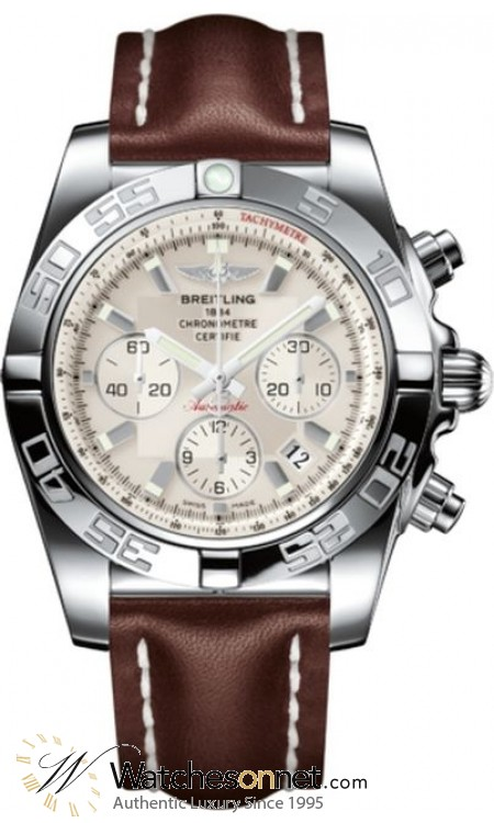 Breitling Chronomat 44  Chronograph Automatic Men's Watch, Stainless Steel, Silver Dial, AB011012.G684.437X