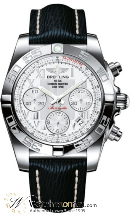 Breitling Chronomat 41  Chronograph Automatic Men's Watch, Stainless Steel, White Dial, AB014012.A747.220X
