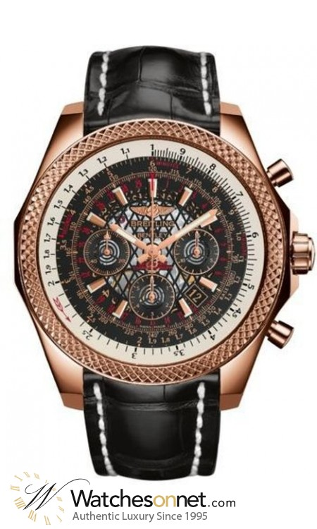 Breitling Bentley B06  Chronograph Automatic Men's Watch, 18K Rose Gold, Black Dial, RB061112.BC43.761P