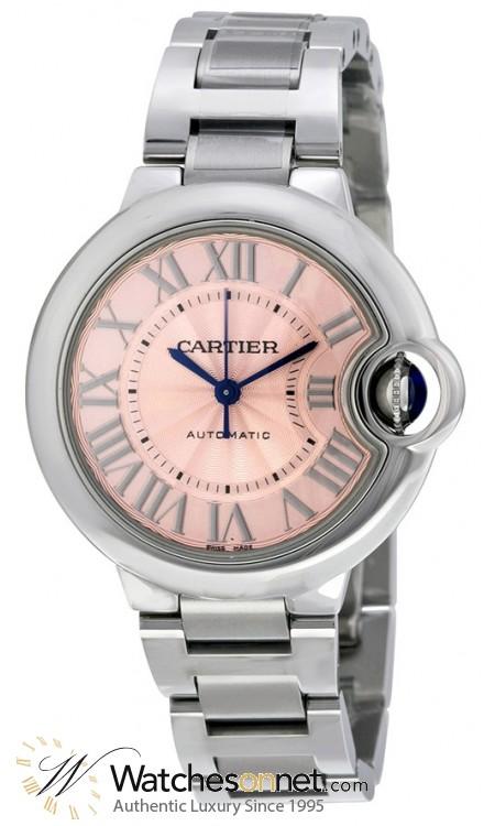 Cartier Ballon Bleu  Automatic Women's Watch, Stainless Steel, Pink Dial, W6920100