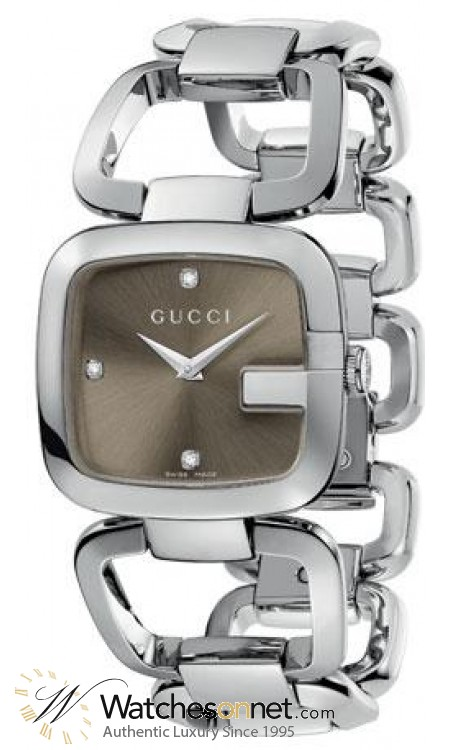 Gucci G-Gucci  Quartz Women's Watch, Stainless Steel, Brown Dial, YA125401