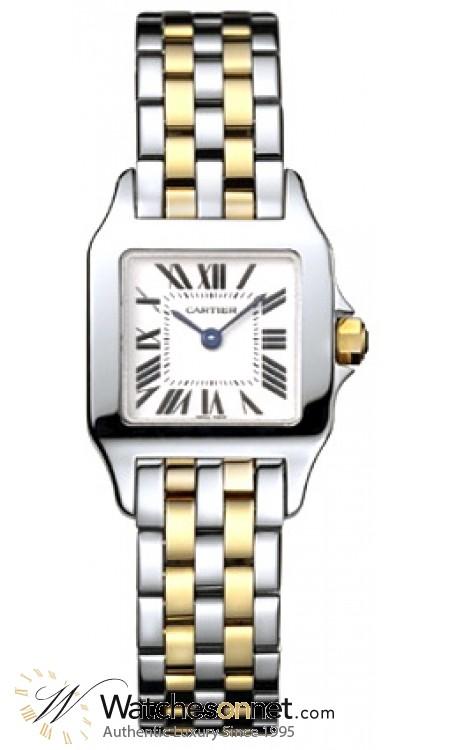 Cartier Santos Demoiselle  Quartz Women's Watch, 18K Yellow Gold, White Dial, W25066Z6