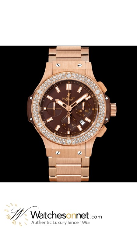 Hublot Big Bang 44mm  Chronograph Automatic Men's Watch, 18K Rose Gold, Brown Dial, 301.PC.3180.PC.1104