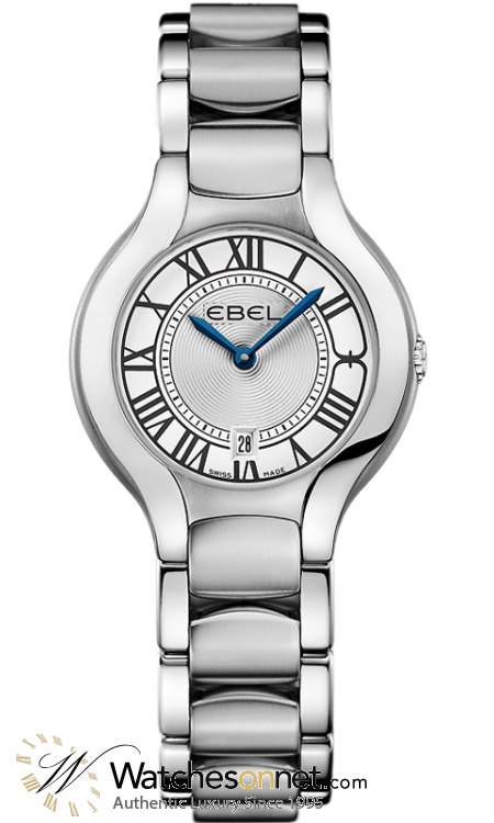 Ebel Beluga Round  Quartz Women's Watch, Stainless Steel, Silver Dial, 1216037