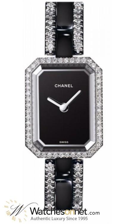 Chanel Premier  Quartz Women's Watch, Stainless Steel, Black Dial, H2147