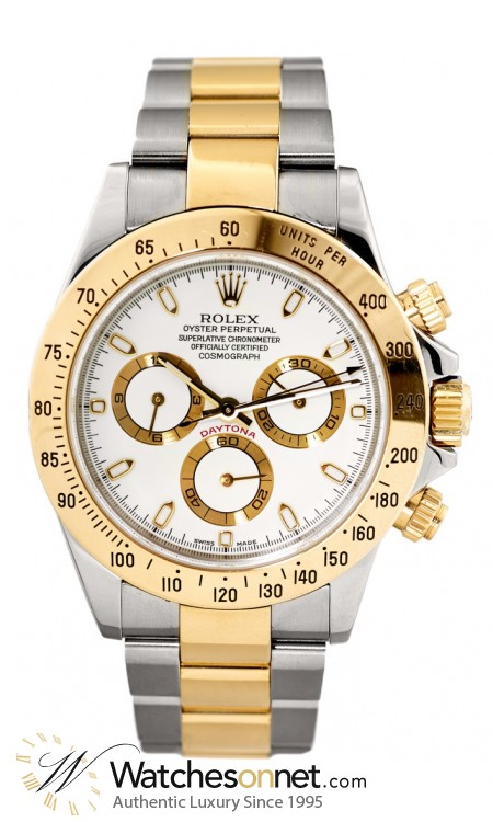 Rolex Cosmograph Daytona  Chronograph Automatic Men's Watch, 18K Yellow Gold, White Dial, 116523-WHT