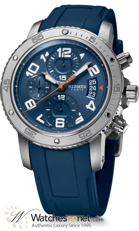 Hermes Clipper  Automatic Men's Watch, Titanium, Blue Dial, 036058WW00