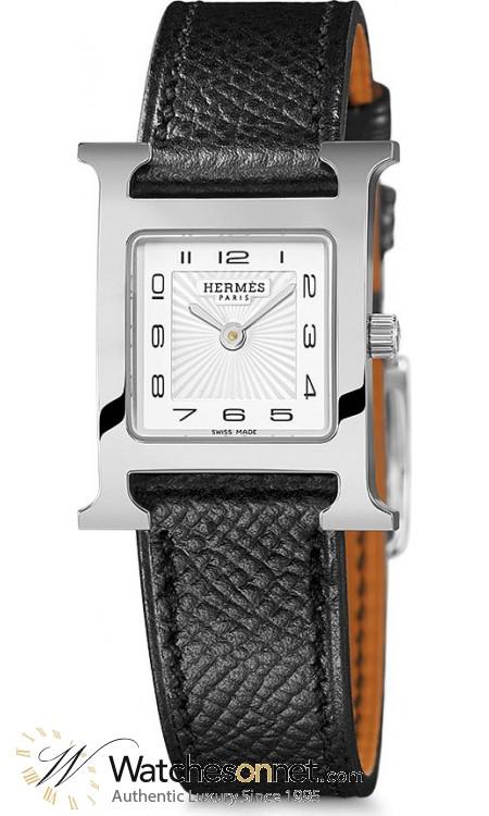 Hermes H Hour  Quartz Women's Watch, Stainless Steel, White Dial, 036704WW00
