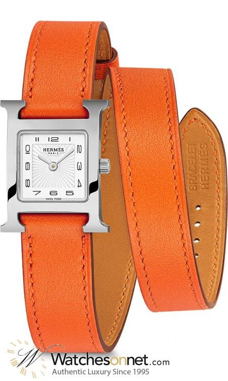 Hermes H Hour  Quartz Women's Watch, Stainless Steel, White Dial, 036719WW00