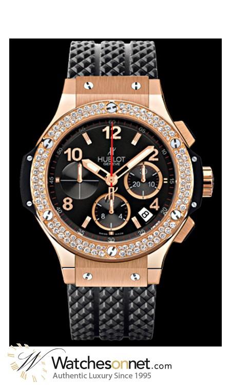 Hublot Big Bang 44mm  Chronograph Automatic Men's Watch, 18K Rose Gold, Black Dial, 301.PX.130.RX.114