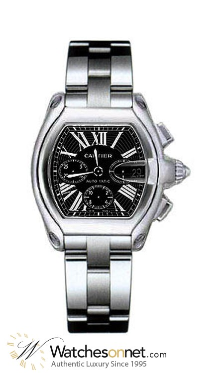 Cartier Roadster  Chronograph Automatic Men's Watch, Stainless Steel, Black Dial, W62020X6