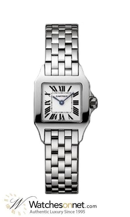 Cartier Santos Demoiselle  Quartz Women's Watch, Stainless Steel, White Dial, W25064Z5
