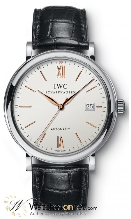 IWC Portofino  Automatic Men's Watch, Stainless Steel, Black Dial, IW356517