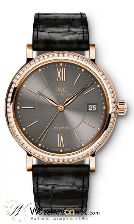 IWC Portofino  Automatic Unisex Watch, 18K Rose Gold, Grey Dial, IW458108