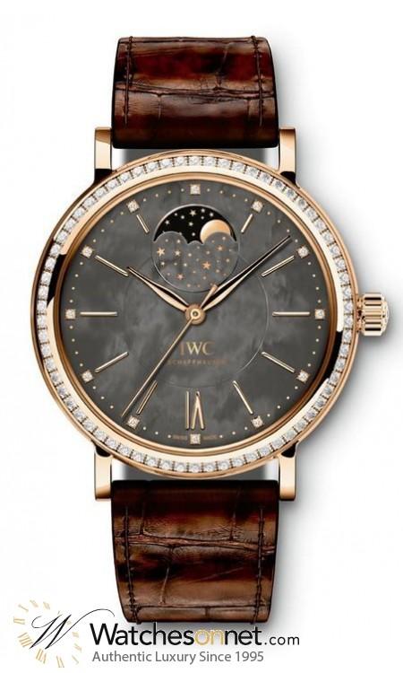 IWC Portofino  Automatic Unisex Watch, 18K Rose Gold, Grey Dial, IW459003