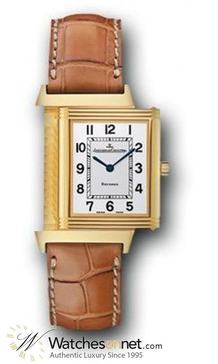 Jaeger Lecoultre Reverso Classique  Manual Winding Unisex Watch, 18K Yellow Gold, Silver Dial, 2511410