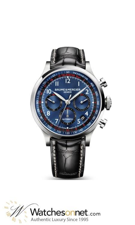 Baume & Mercier Capeland  Chronograph Automatic Men's Watch, Stainless Steel, Blue Dial, MOA10065