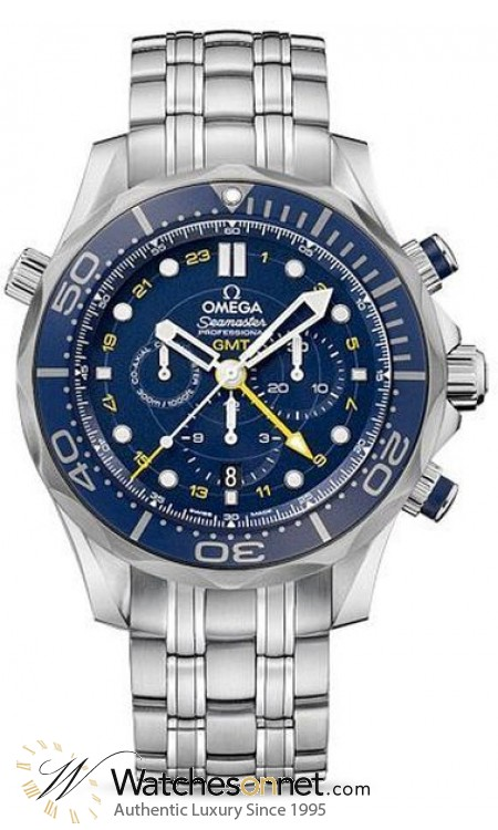Omega Seamaster  Chronograph Automatic Men's Watch, Stainless Steel, Blue Dial, 212.30.44.52.03.001