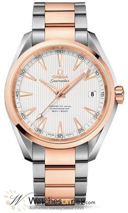 Omega Aqua Terra  Automatic Men's Watch, Steel & 18K Rose Gold, Silver Dial, 231.20.42.21.02.001