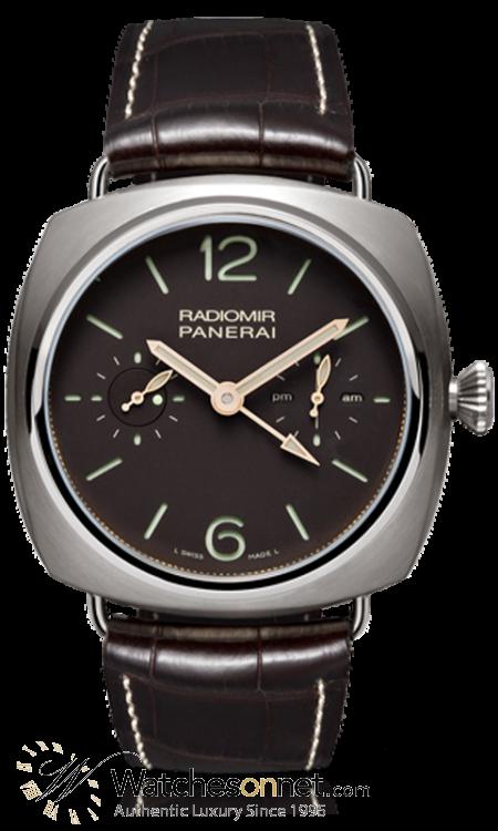 Panerai Radiomir  Tourbillon Men's Watch, Titanium, Brown Dial, PAM00315