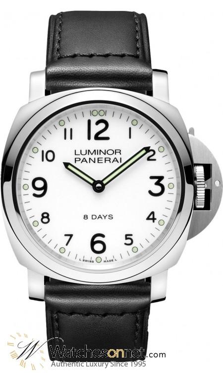 Panerai Luminor Base  Manual Men's Watch, Stainless Steel, White Dial, PAM00561