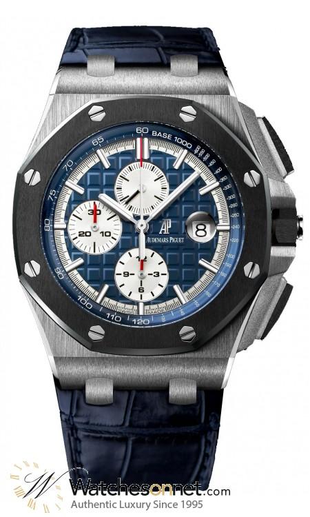 Audemars Piguet Royal Oak Offshore  Chronograph Automatic Men's Watch, Platinum, Blue Dial, 26401PO.OO.A018CR.01