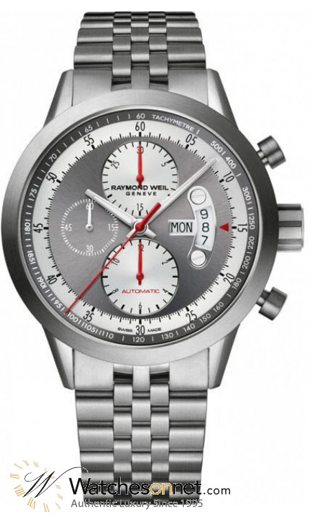 Raymond Weil Freelancer  Chronograph Automatic Men's Watch, Titanium, Grey Dial, 7745-TI-05659