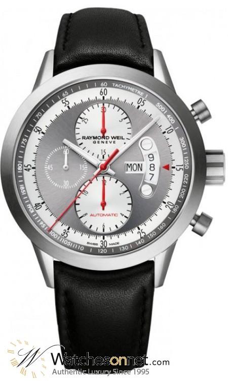 Raymond Weil Freelancer  Chronograph Automatic Men's Watch, Titanium, Grey Dial, 7745-TIC-05659